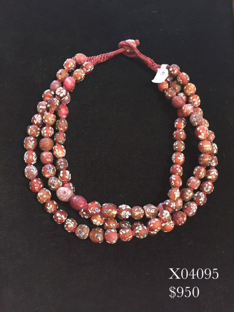 Red Heart African Trade Beads
