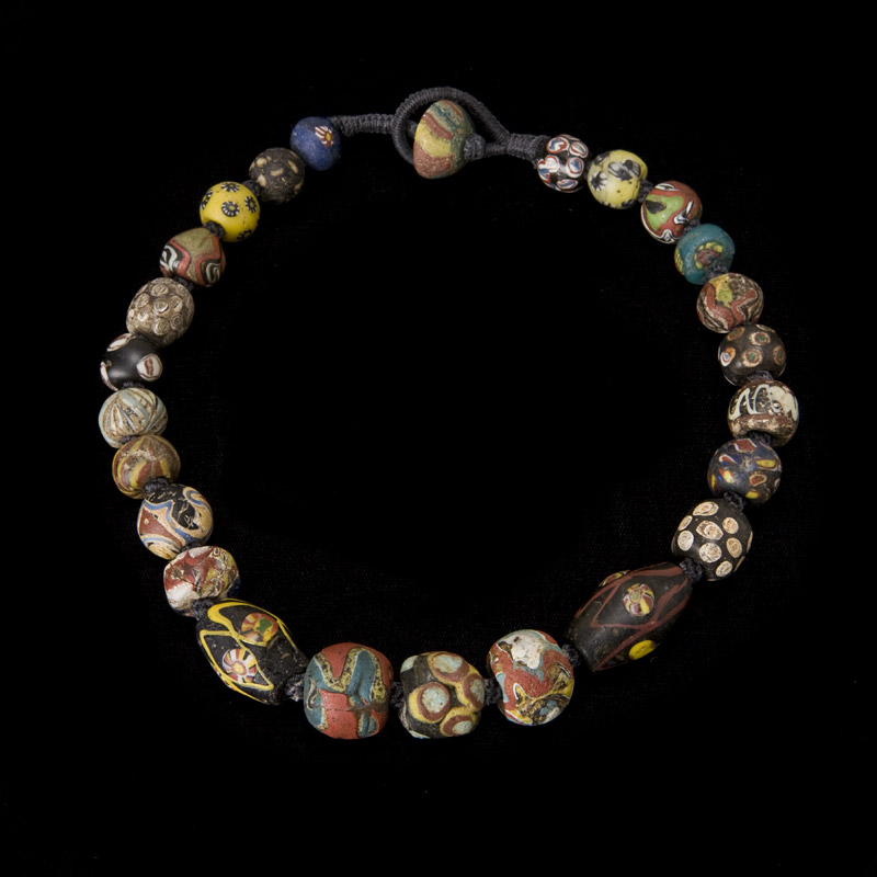 Excavated  River Valley civilization glass necklace