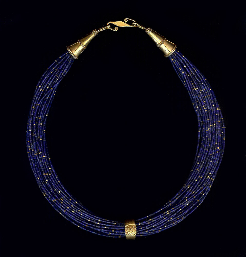 Lapis with Pyu Ring Shaped Gold Currency